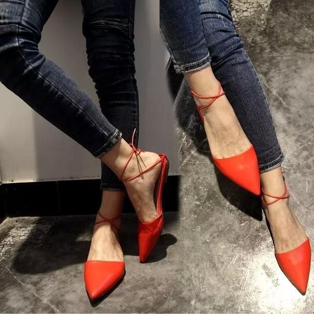超美涼鞋 百搭尖頭淺口交叉綁帶女鞋平底涼鞋尖頭高跟鞋厚底涼鞋厚底跟鞋楔形涼鞋楔形跟鞋娃娃鞋