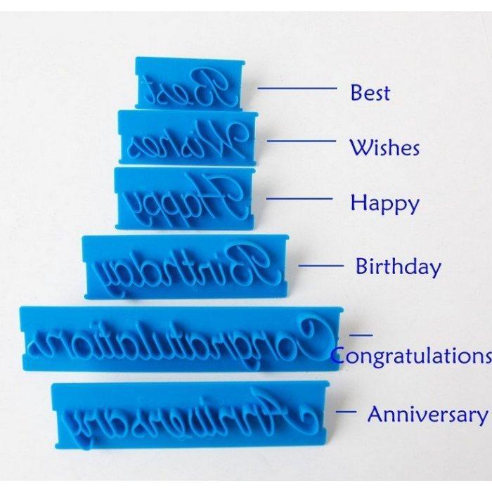 沅君烘焙魔法師數字按壓模草寫餅乾印章翻糖蛋糕裝飾工具
