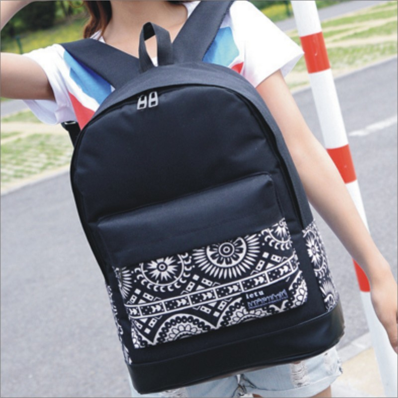 販售心罐子~彩繪印花後背包側背包書包雙肩包可放A4 書本