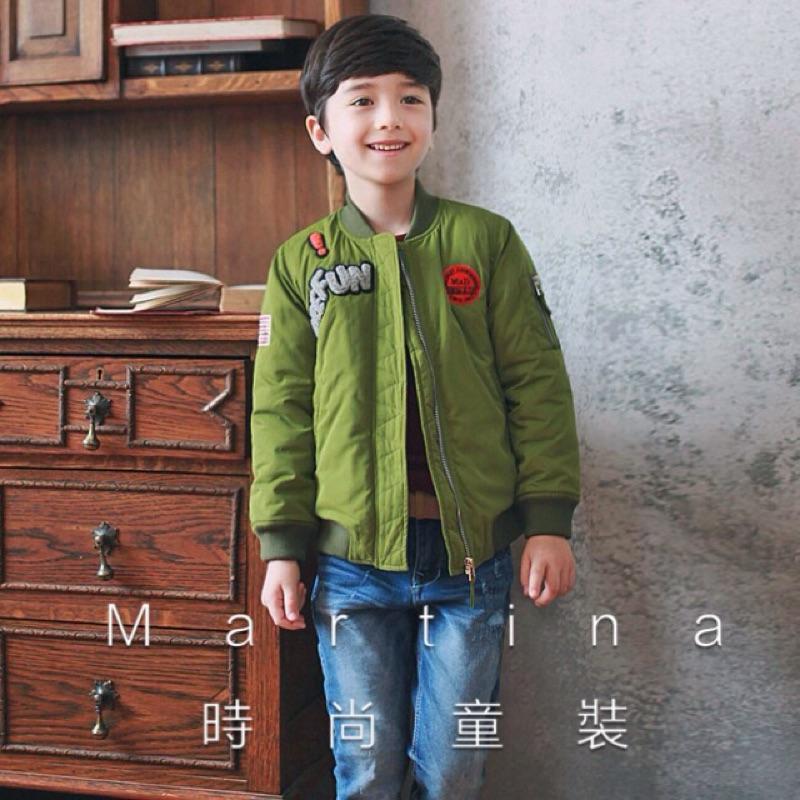 中大童~韓系 ~男童女童加厚棒球外套