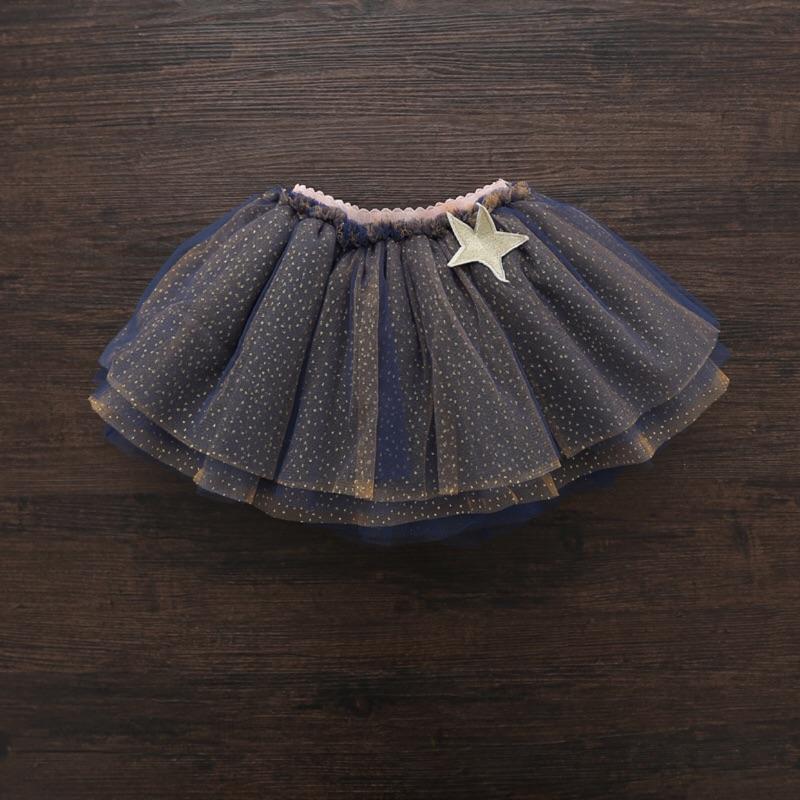 ( 粉)韓國連線星星皺摺紗裙