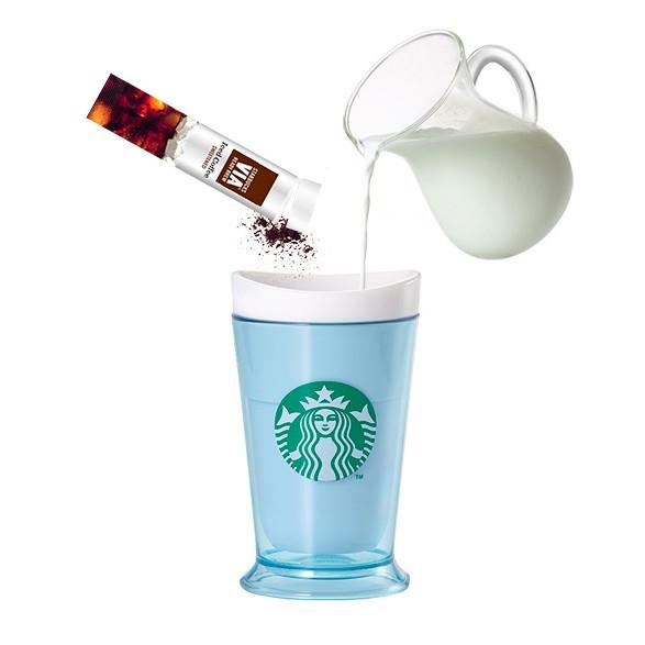 星巴克凍飲DIY 趣味杯藍色