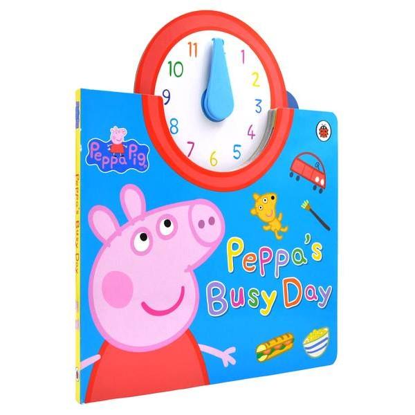 Peppa Pig Peppa s Busy Day 時鐘硬頁書粉紅佩佩豬豬小妹時鐘書玩具