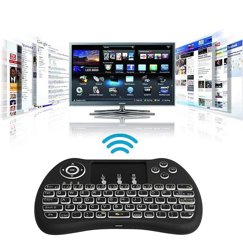 Leegoal 升級版H9 無線空中飛鼠鍵盤背光智能遙控器