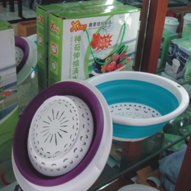 ~伸縮式軟性折疊瀝水籃洗菜籃水果籃~