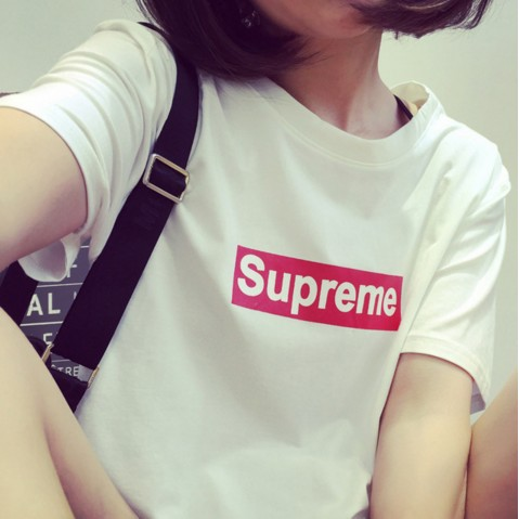 ~Alice ~Supreme 短袖日系潮牌T 恤原宿風明星同款大學T