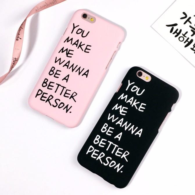 ▊ ▊情侶款英文字母告白iPhone 手機殼6 6s plus 英文字母黑色粉紅bette