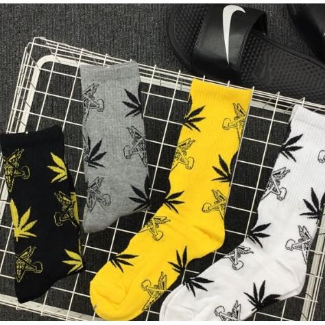 韓國潮牌麻葉楓葉潮流街頭情侶行員原宿男女生情侶中筒長襪子