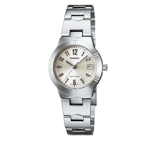 CASIO 卡西歐手錶淑女腕錶米白LTP 1241D 7A2