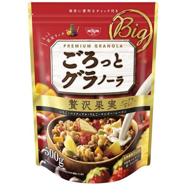 日清大包裝500g 營養早餐零食日清水果燕麥脆片豪華果實新包裝500g