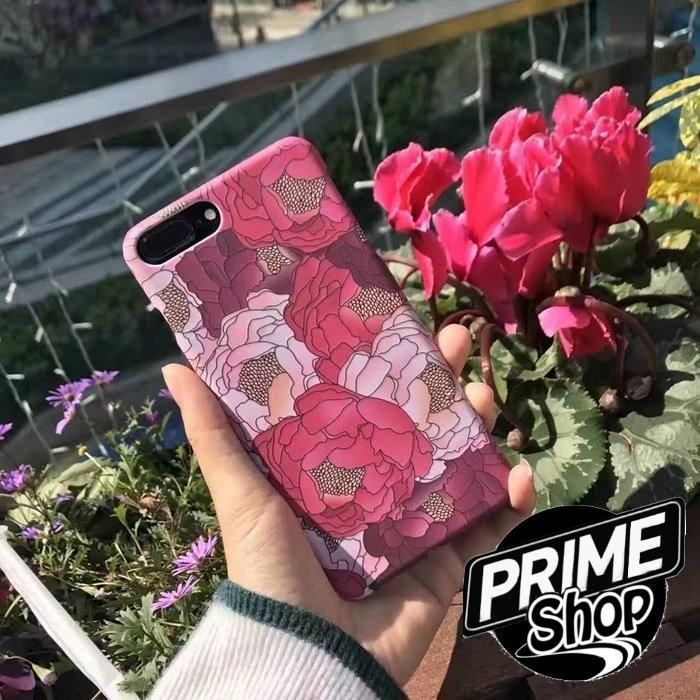 ~Prime Shop ~韓國文藝復古紅花卉iphone6s 7plus 手機殼蘋果7 磨