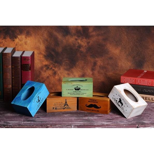 木頭面紙盒木紋紙巾盒紙巾盒木製面紙盒 面紙盒 面紙盒木盒收納盒木製鄉村風面紙盒~BWQ 8