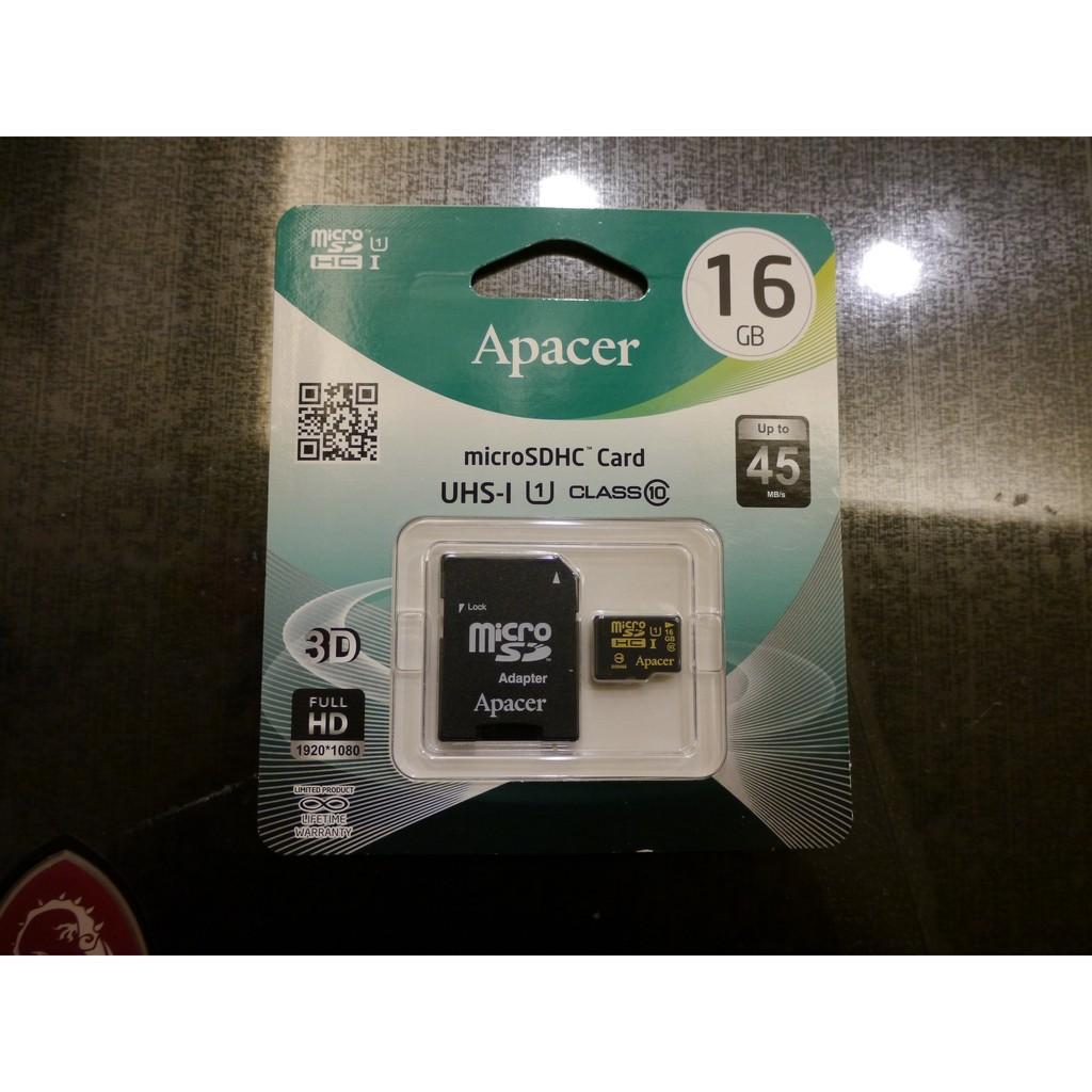 16GB 32GB 64GB Apacer 宇瞻MicroSDHC UHS I Class