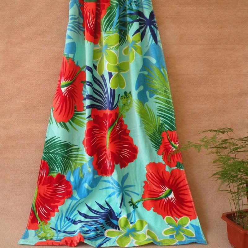 扶桑花浴巾沙灘巾海邊渡假比基尼旅行