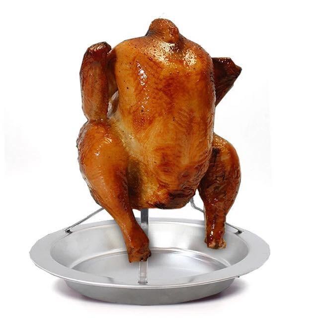 不鏽鋼桶仔雞架滴雞精紙箱烤雞烤雞架烤肉爐烤肉架桶子雞露營焚火台
