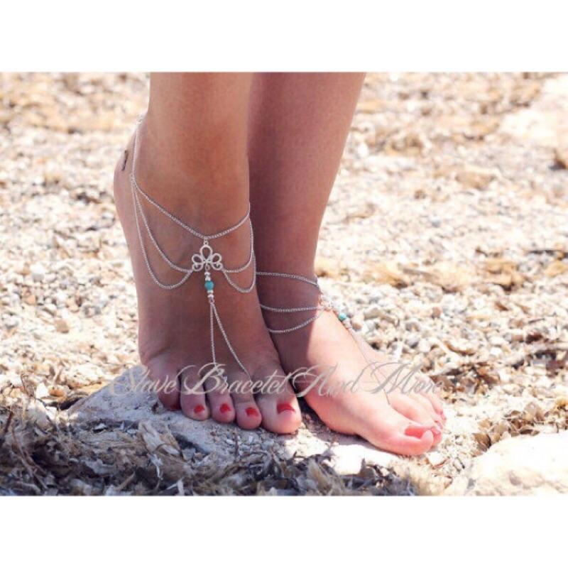 ☀️ZJ K ☀️海邊回頭率超高 簡約純 多層沙灘腳鍊男生覺得女生戴腳鍊很性感本賣場也有
