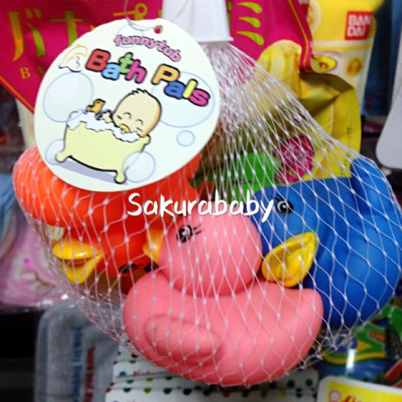 彩色泡澡鴨鴨小鴨子洗澡玩具泡澡玩具_ 櫻花寶寶