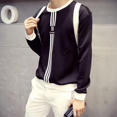 太空棉衛衣男士日系小衫長袖打底衫修身套頭 潮棒球服