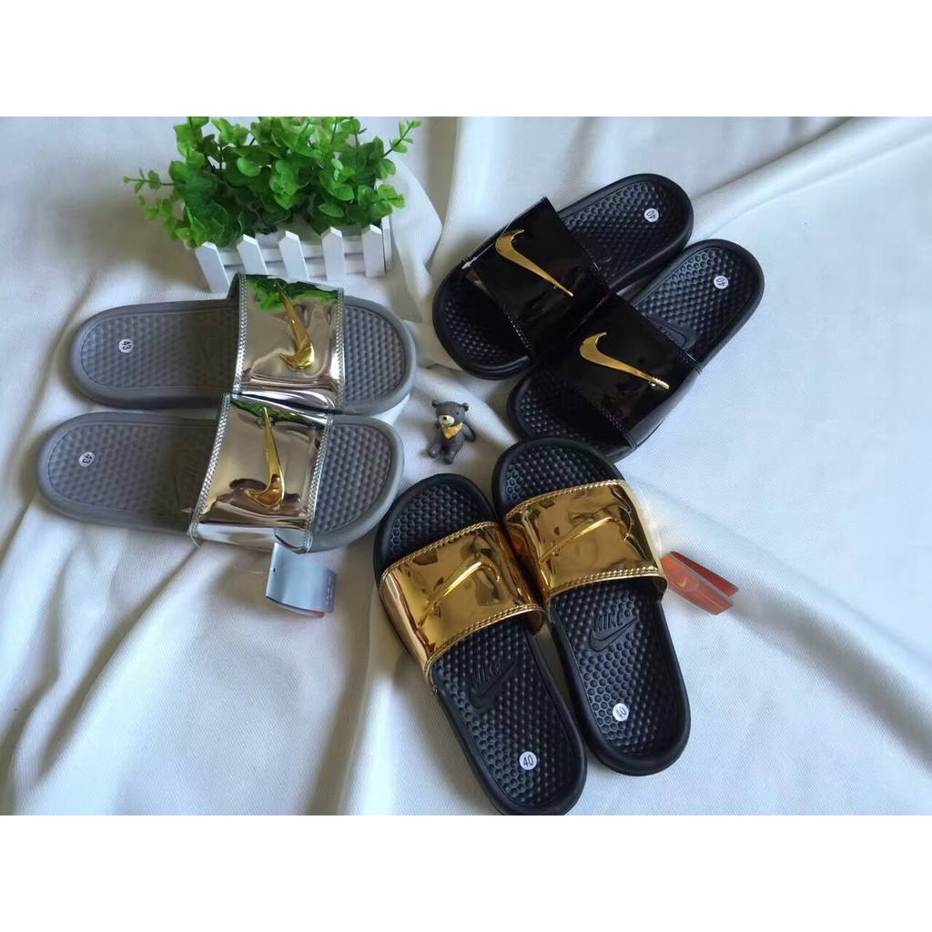 "Nike Benassi Solarsoft Slide SP ""Liquid Metal"