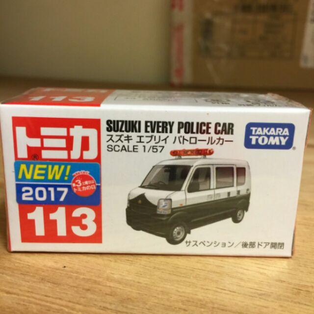 Tomica tomy Suzuki EVERY 警車NO 113
