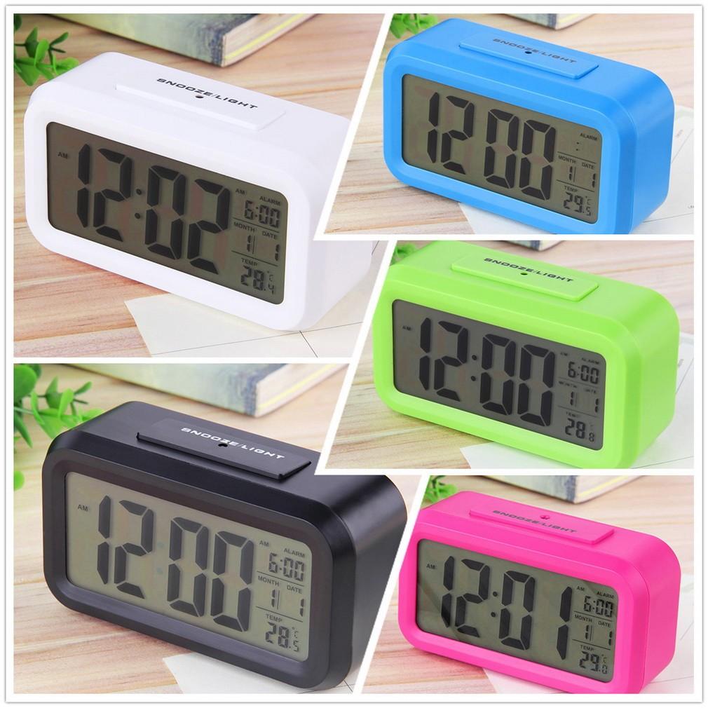 超大數字懶人貪睡鬧鐘溫度顯示聰明鐘電子鐘磨砂色鬧鐘升級溫度版靜音時鐘光感鬧鐘LED 鬧鐘
