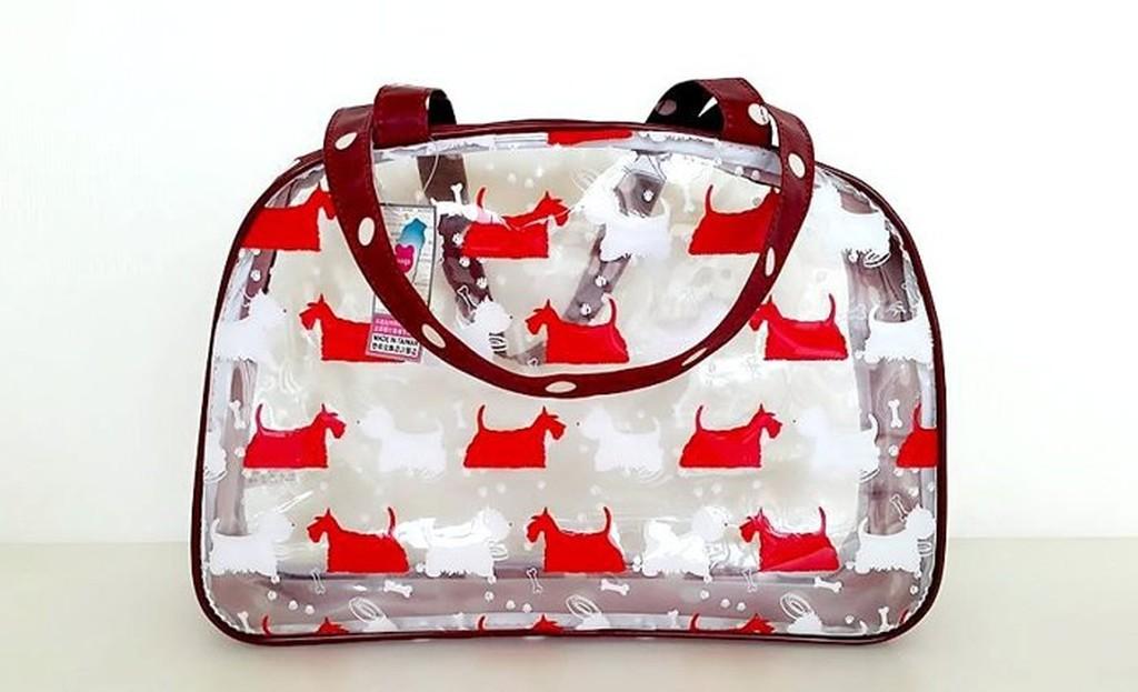 悠格~YOGSBEAR ~ A 透明防水袋游泳袋海灘袋手提袋手提包D09 紅色