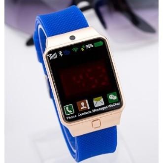 新的中性男孩女孩觸摸屏LED 數字矽休閒手錶
