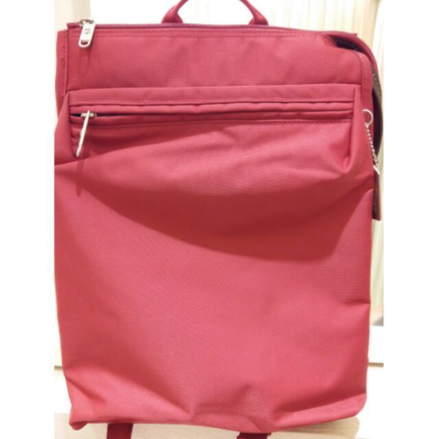 Sumdex 14 吋紅色電腦包後背包電腦後背包14 吋電腦包
