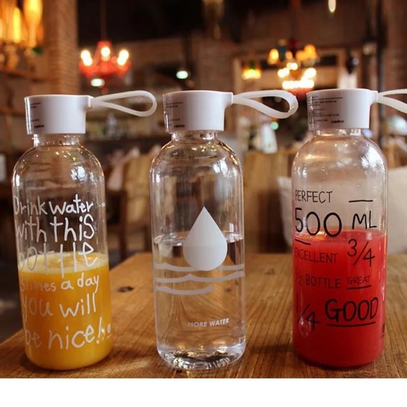 韓國my bottle 塑膠水杯隨手杯附布袋600ml