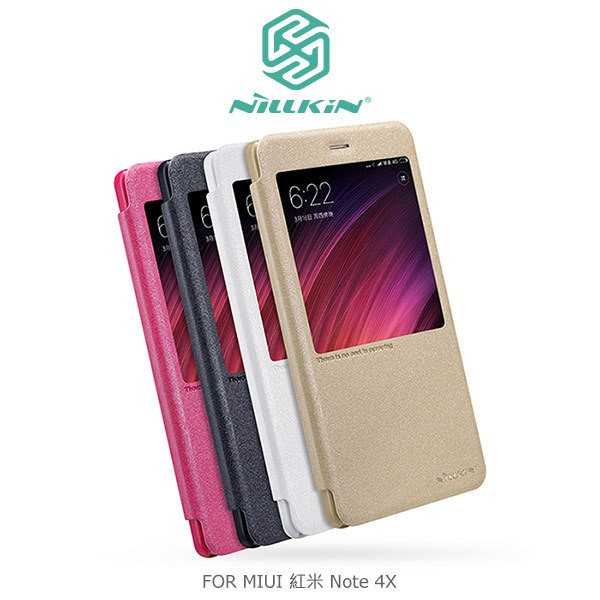 NILLKIN MIUI 紅米Note 4X 星x097f5 皮套開窗側翻皮套智能休眠可視