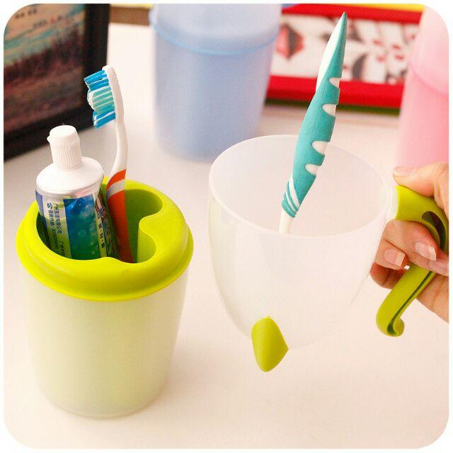 ( ) 貓咪 情侶塑料漱口杯牙刷牙膏收納旅行套組