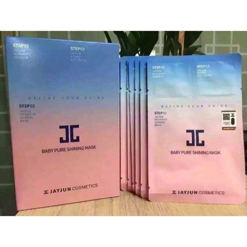 5 片299 體驗價JAYJUN 韓國正品 新品嬰兒肌新生煥白面膜三步驟面膜單片5