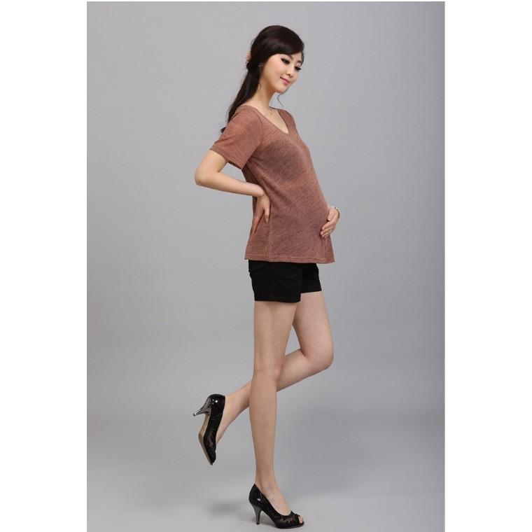 幸福孕婦裝~ ~彈力減壓孕婦褲短褲透氣富彈力孕婦褲托腹減壓托腹褲完美曲線舒適透氣可調節腰圍