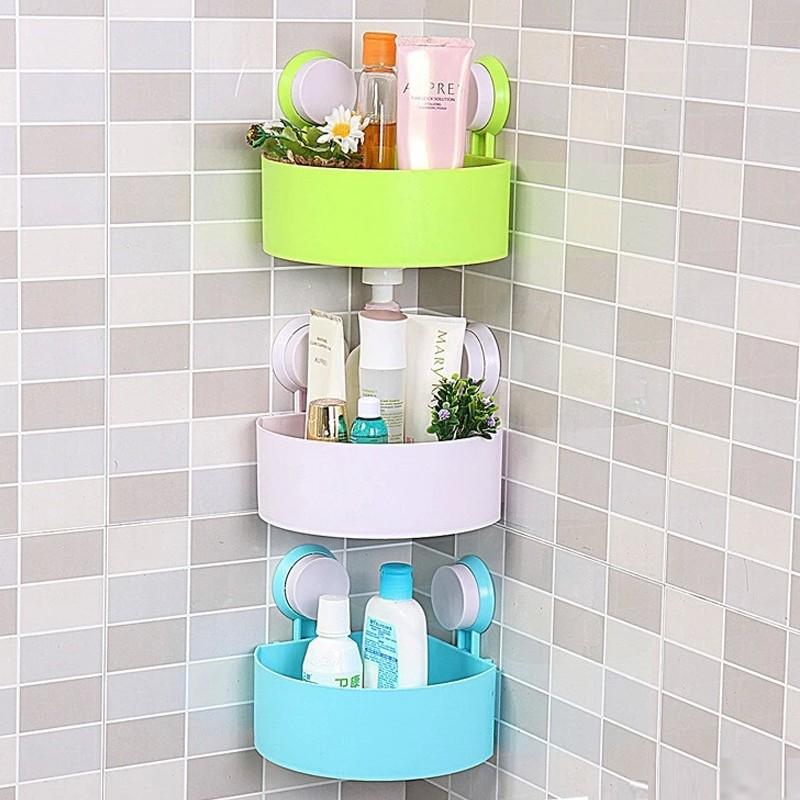 吸盤浴室置物架強力三腳架壁掛衛生間收納架子衛浴洗手間儲物架
