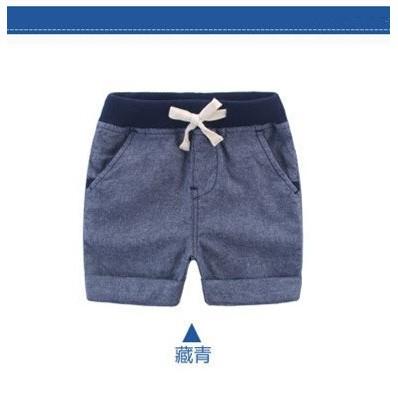 純色男童休閒短褲
