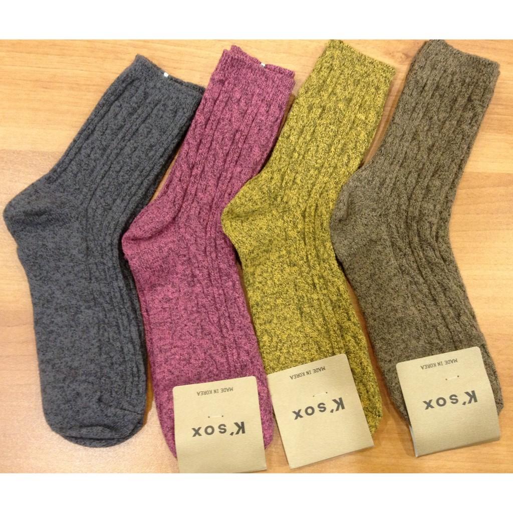 蘿依韓國服飾正韓壓紋毛長襪灰、粉、黃、咖啡色~韓國 款~