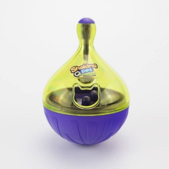 不倒翁漏食玩具寵物益智玩具抗憂鬱玩具餵食玩具漏食球鈴鐺玩具