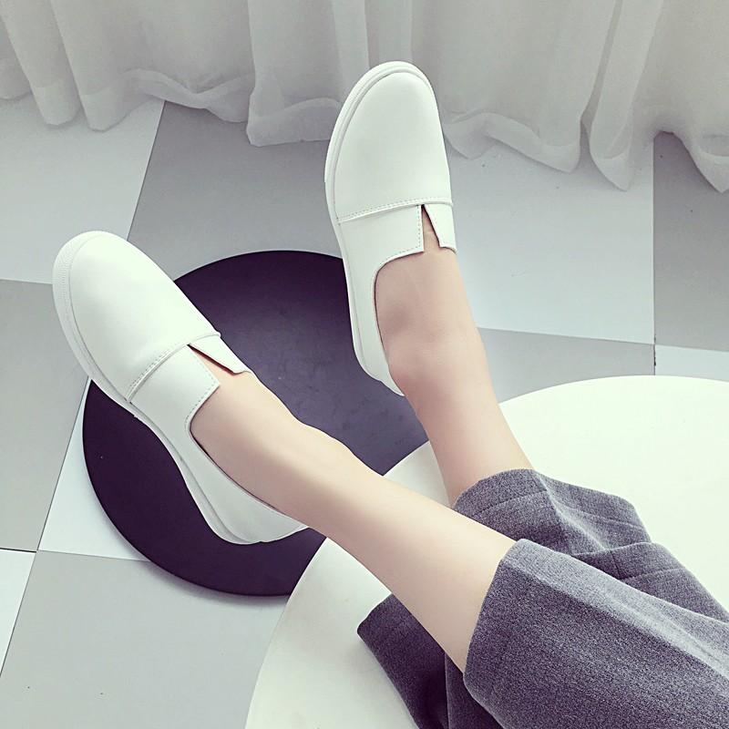☁☁7 彩衣櫃☁☁白色 鞋一腳蹬女鞋平跟平底懶人鞋套腳帆布鞋女小白鞋布鞋夏帆布鞋休閒鞋平底