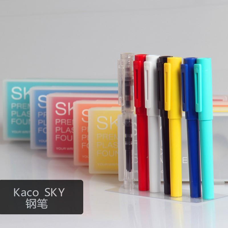 KACO SKY 百鋒學生練字鋼筆墨水筆透明簡約國民鋼筆德國製筆尖學生用練字鋼筆彩色透明示