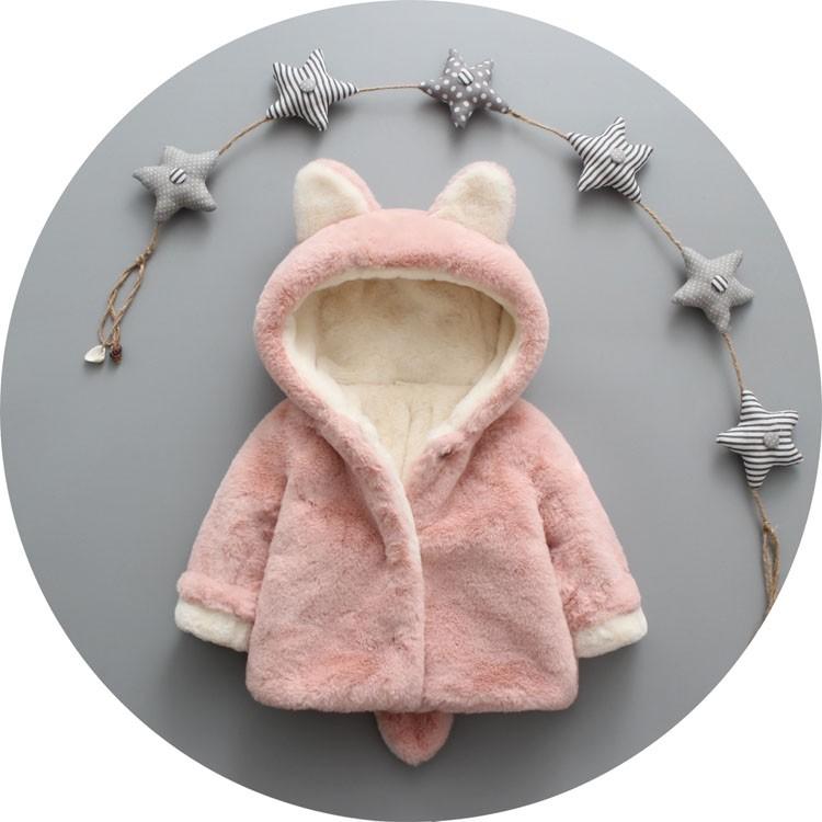 男女寶寶棉襖外套加絨加厚 新品0 1 2 3 歲嬰兒棉衣外出服皮草
