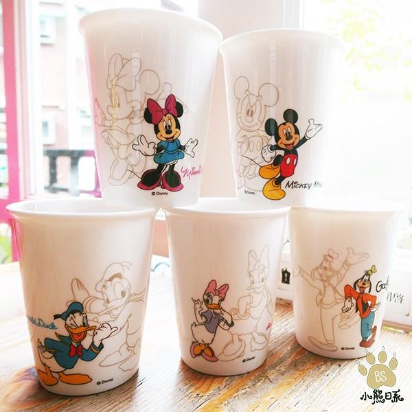 小熊日系迪士尼水杯DISNEY 杯組210ml 5 入組冷水杯喝茶米奇米尼唐老鴨高飛黛西