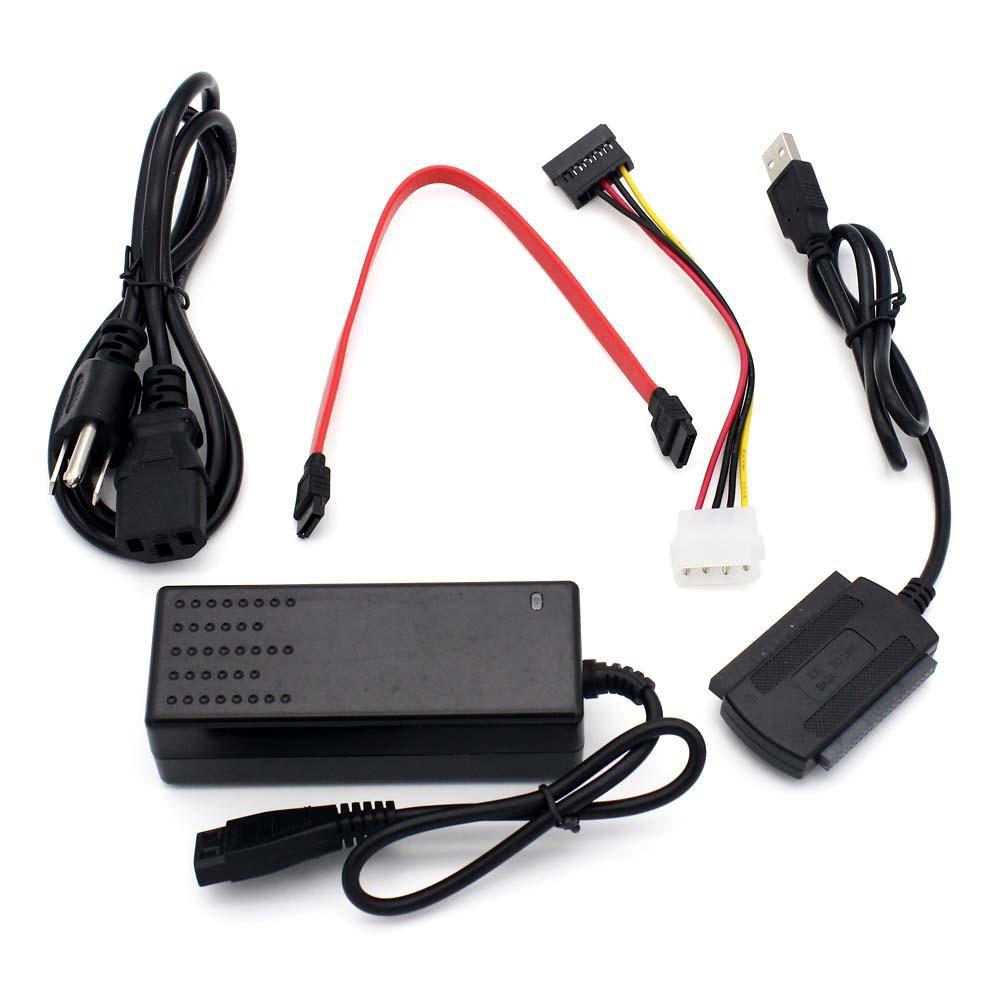 SATA PATA IDE 轉USB 2 0 適配器轉換器電纜2 5 3 5 英寸硬盤驅動