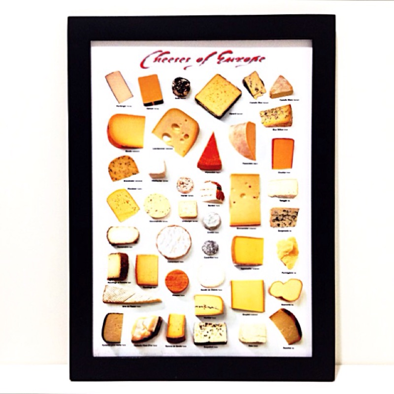 乳酪cheese 圖鑑掛畫壁飾海報長知識