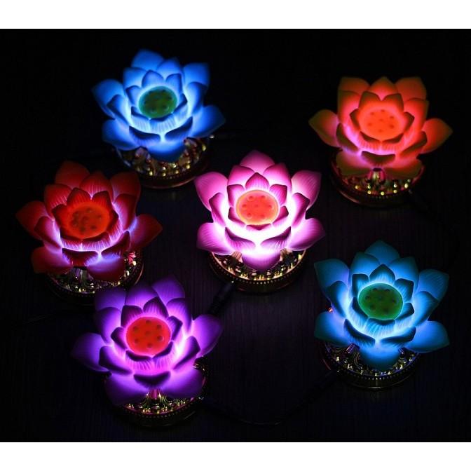 ~還願佛牌~佛教用品七彩變色LED 供佛小蓮燈七彩蓮花燈佛燈法會供燈祈願燈