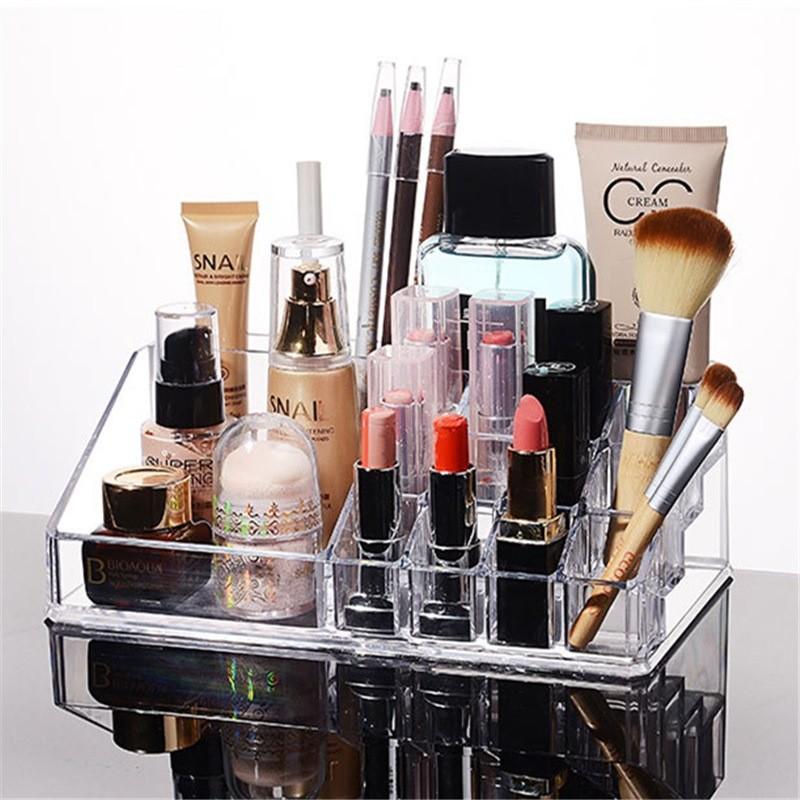 化妝品8532 壓克力收納盒收納架首飾盒刷具桶珍珠刷具化妝盒彩妝盒唇膏架