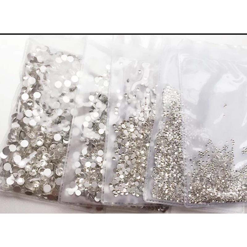 美甲凝膠光療材料美甲仿奧鑽平底白鑽平底五彩鑽1440 顆國貿鑽美甲鑽美甲水鑽