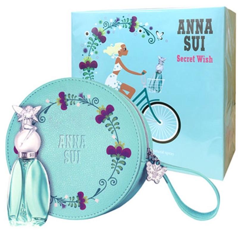 Anna Sui 安娜蘇許願精靈女性淡香水禮盒 (30ml+圓形化妝包)