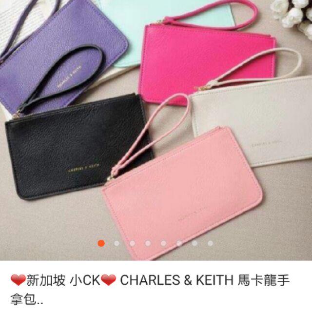 新加坡CK CHARLE KEITH 馬卡龍手提包