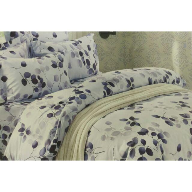 來成 雙人加大特大單人薄床包天絲絨舒柔棉涼被薄被套兩用被 床包秋風落葉優雅 柔和