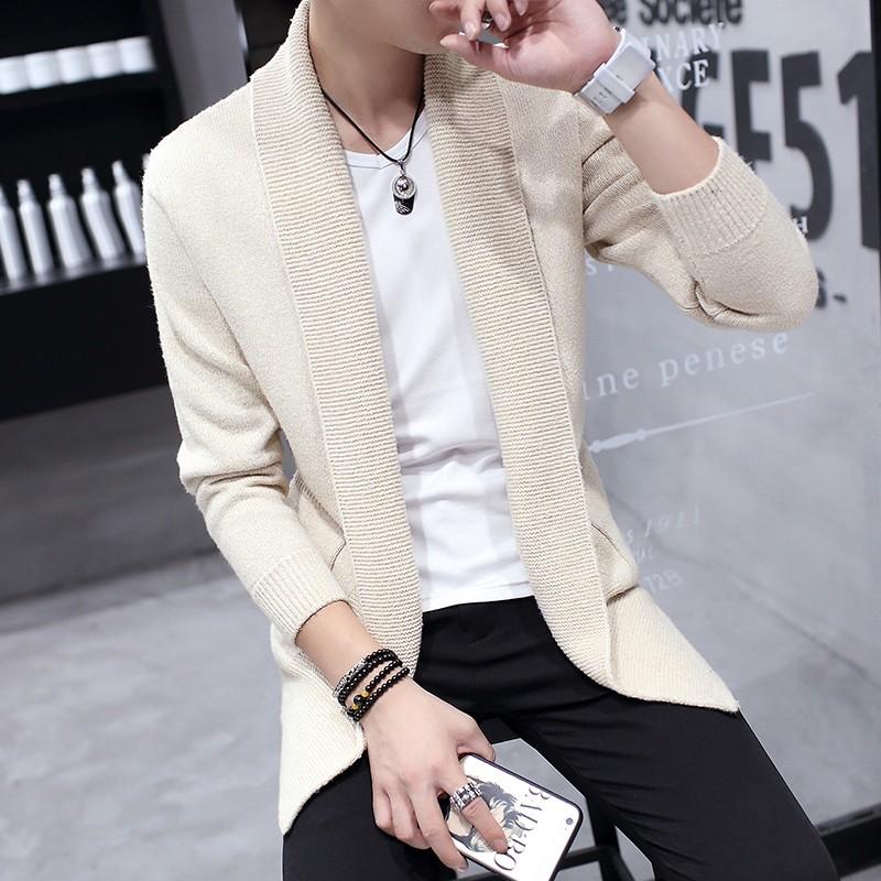 男士針織衫 修身翻領青年潮流毛衣男裝開衫男外套上衣